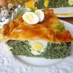 Torta Pasqualina - włoski wypiek wielkanocny ze szpinakiem, jajkiem i ricottą