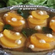 Schab z brzoskwinią w galarecie