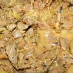 szybkowar-gulasz z żołądków kurczaka...