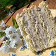 Tort orzechowo - smietanowy
