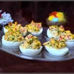 Jajka z łososiem i papryką