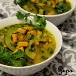Zupa z batata, cukinii i pietruszki