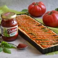 Pomidorowa tarta z zielonymi szparagami