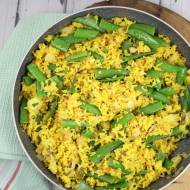 Ryż curry z groszkiem cukrowym