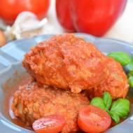 Gołąbki bez zawijania w sosie pomidorowo-paprykowym