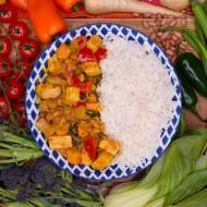 Korma Curry z tofu. Cudowne smaki dalekiego wschodu