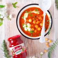 Wegetariańska cieciorka po bretońsku / Vegetarian chickpeas in tomato sauce