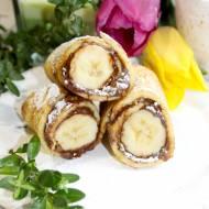 Waniliowe naleśniki z bananem i kremem czekoladowym