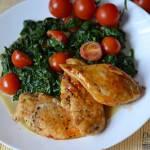 Kurczak miodowy ze szpinakiem