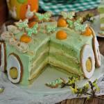 Wielkanocny tort pod motylem