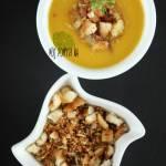 Zupa krem z dyni z bekonowym pangrattato
