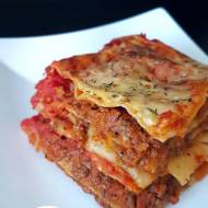 Lasagne bolognese bez sosu beszamelowego