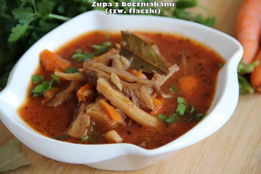 Zupa z boczniakami (tzw. flaczki)
