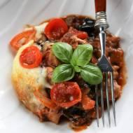 Lasagne z indykiem i bakłażanem
