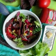 Mroczne tacos z fioletowej marchwi z warzywami i Pudliszkową salsą