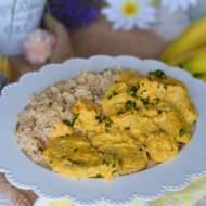 Polędwiczki wieprzowe w sosie curry i nutą słodkich bananów