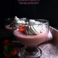 Domowy budyń truskawkowy