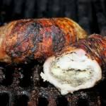 Schabowe , nadziewane roladki , pomysł na grilla