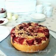 Ciasto drożdżowe z truskawkami (vege)