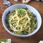 Spaghetti Carbonara ze szparagami