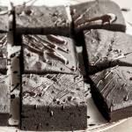 """""""Czarnie"""" mocno czekoladowe brownie"""