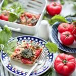 Zapiekanka makaronowa z pokrzywą