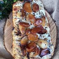Schab pieczony z czosnkiem i miodem