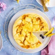 Sernik bez cukru z pulpą z mango i kokosem