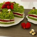 Ciasto leśny mech z truskawkami