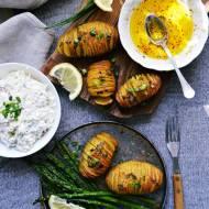 Cytrynowe ziemniaki Hasselback ze szparagami, czyli epicentrum wiosennych rozkoszy