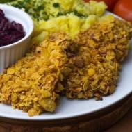 Filet z piersi kurczaka w panierce z płatków kukurydzianych - pieczony, dietetyczny!