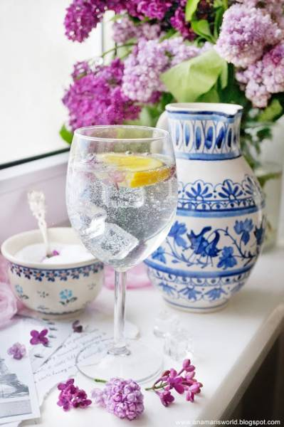 Lemoniada z kwiatami bzu lilaka