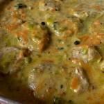 Polędwiczki wieprzowe w kremowym sosie porowym