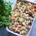 Zapiekanka makaronowa z łososiem i tym co trzeba było zużyć, czyli nie marnujemy resztek