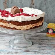 Ciasto z białą czekoladą i kremem serowym