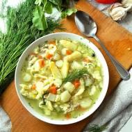 Zupa szparagowa z lanymi kluskami