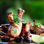Kurczak z miodowej glazurze z grilla
