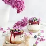 Serniczki z nerkowców z musem owocowym – wege deser