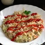 Zapiekanka z ryżu, kapusty pekińskiej i mięsa