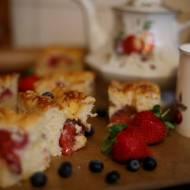 Truskawkowe ciasto z kruszonką, pyszne