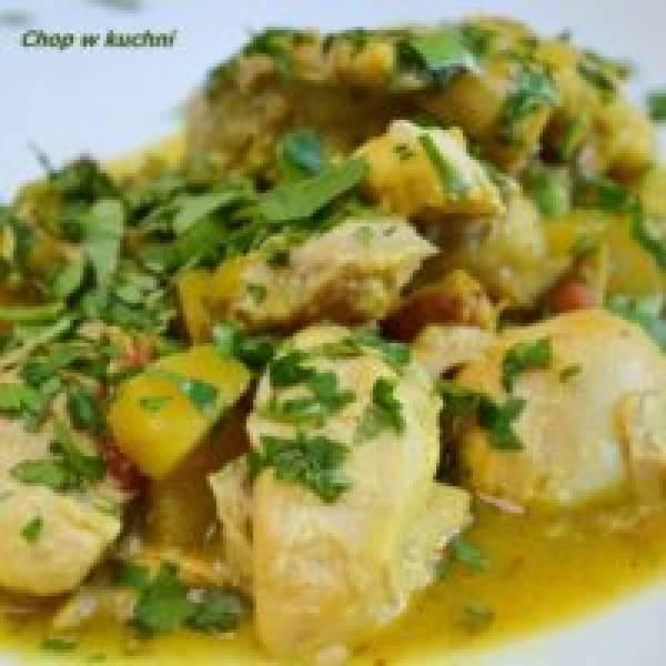 Kura Bamango (Kurczak w sosie bananowo-mangowym)