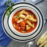 Curry ze szparagami