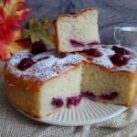 Ciasto serowe z wiśniami