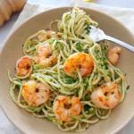 Spaghetti z cukinią i krewetkami (Spaghetti con zucchine e gamberetti)