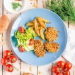 Zdrowsze nuggetsy i frytki z piekarnika