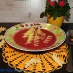 Zupa malinowo - jeżynowa z mleczkiem kokosowym i fusili giganti
