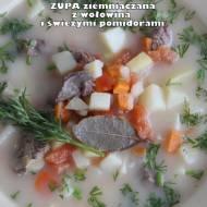 Zupa ziemniaczana z wołowiną i świeżymi pomidorami