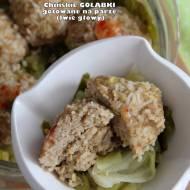 Chińskie gołąbki gotowane na parze (lwie głowy)