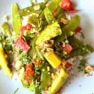 Warzywa po azjatycku z mango i ryżem