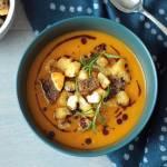 Zupa krem z batatów i marchewki z rozmarynem
